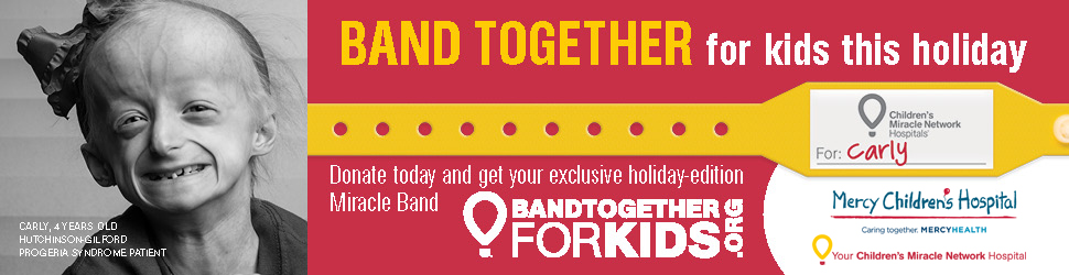 Join Mercy Children's Hospital and Children's Miracle Network Hospitals as we Band Together for Kids for the holidays