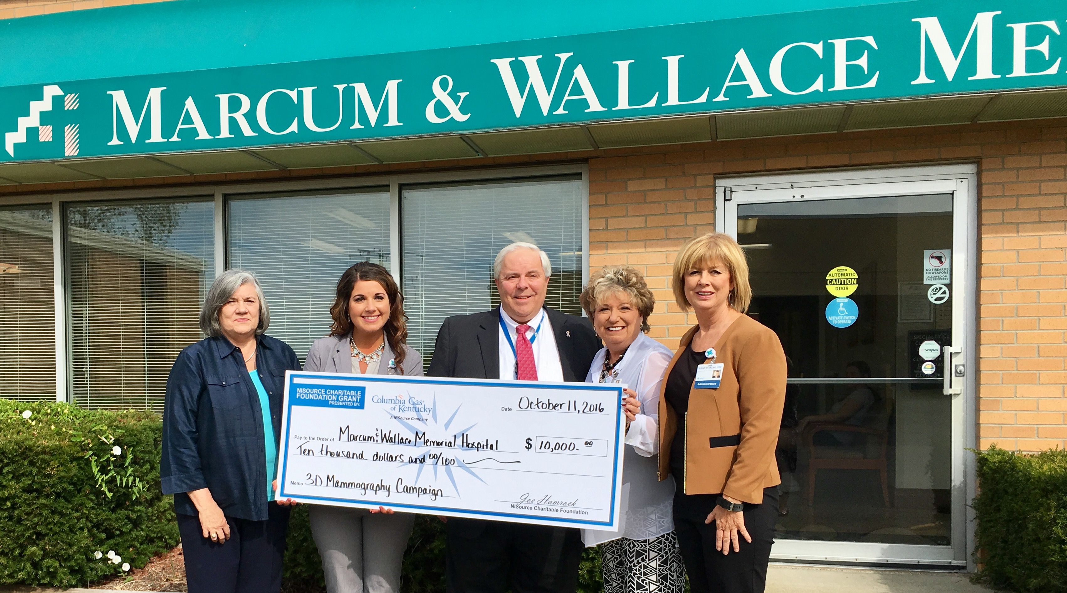 Columbia Gas awards $10,000 grant to 3D mammography campaign